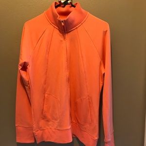 Gap Fit coral colored zip up sweatshirt. GUC L
